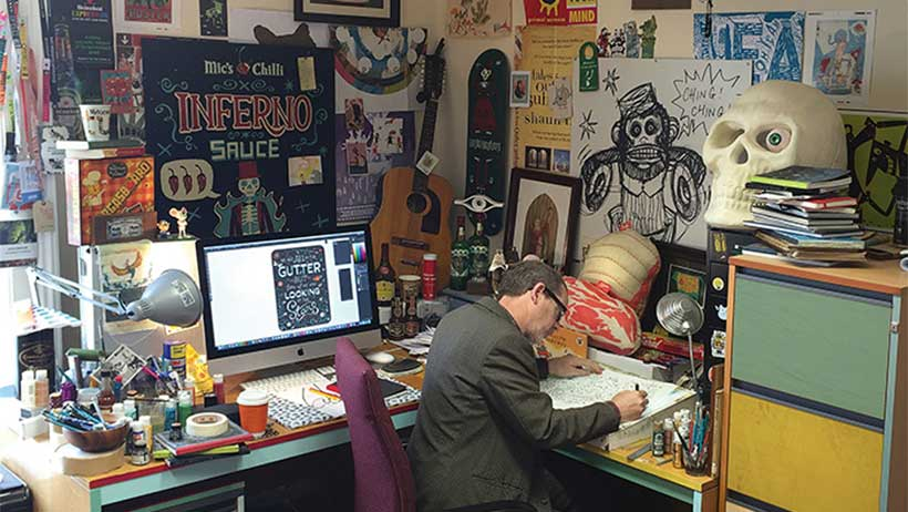 Steve Simpson in his studio