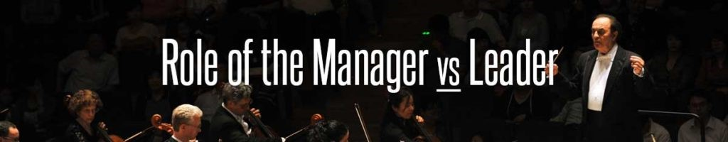 Role of the manager