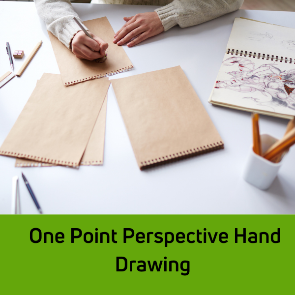 One Point Perspective Hand Drawing